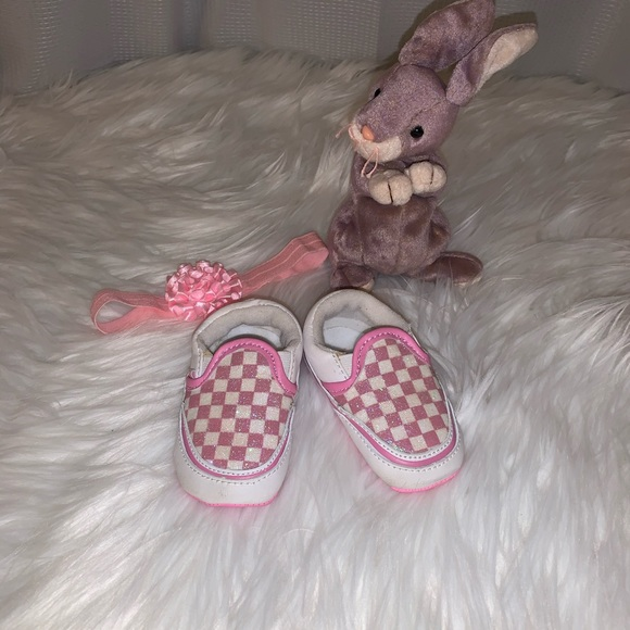 Vans Other - Vans Baby Girl Pink Checkered Crib Shoes 2